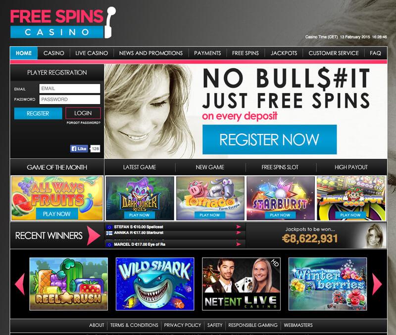 Gratis Casino Spinns